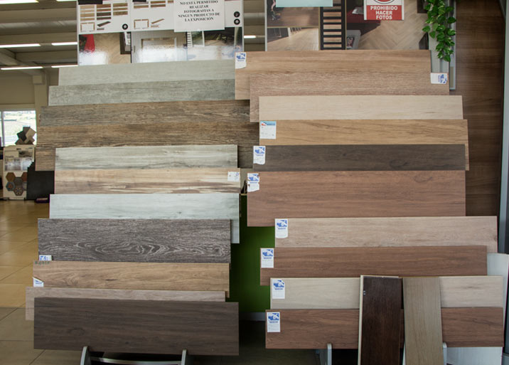 Muestrario de azulejo de madera
